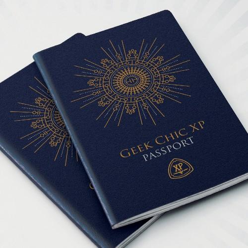 Vintage Passport Booklet