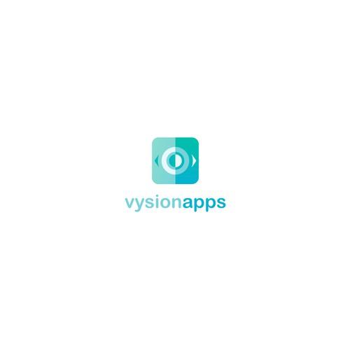 Vysion Apps logo design concept