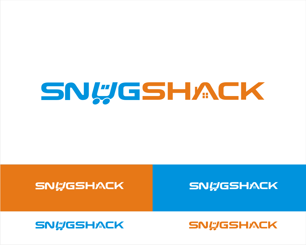 New logo design for small space living at SnugShack