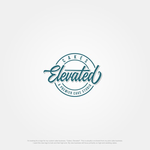 Design a high-end, timeless logo for Cakes, Elevated - A Premier Cake Studio