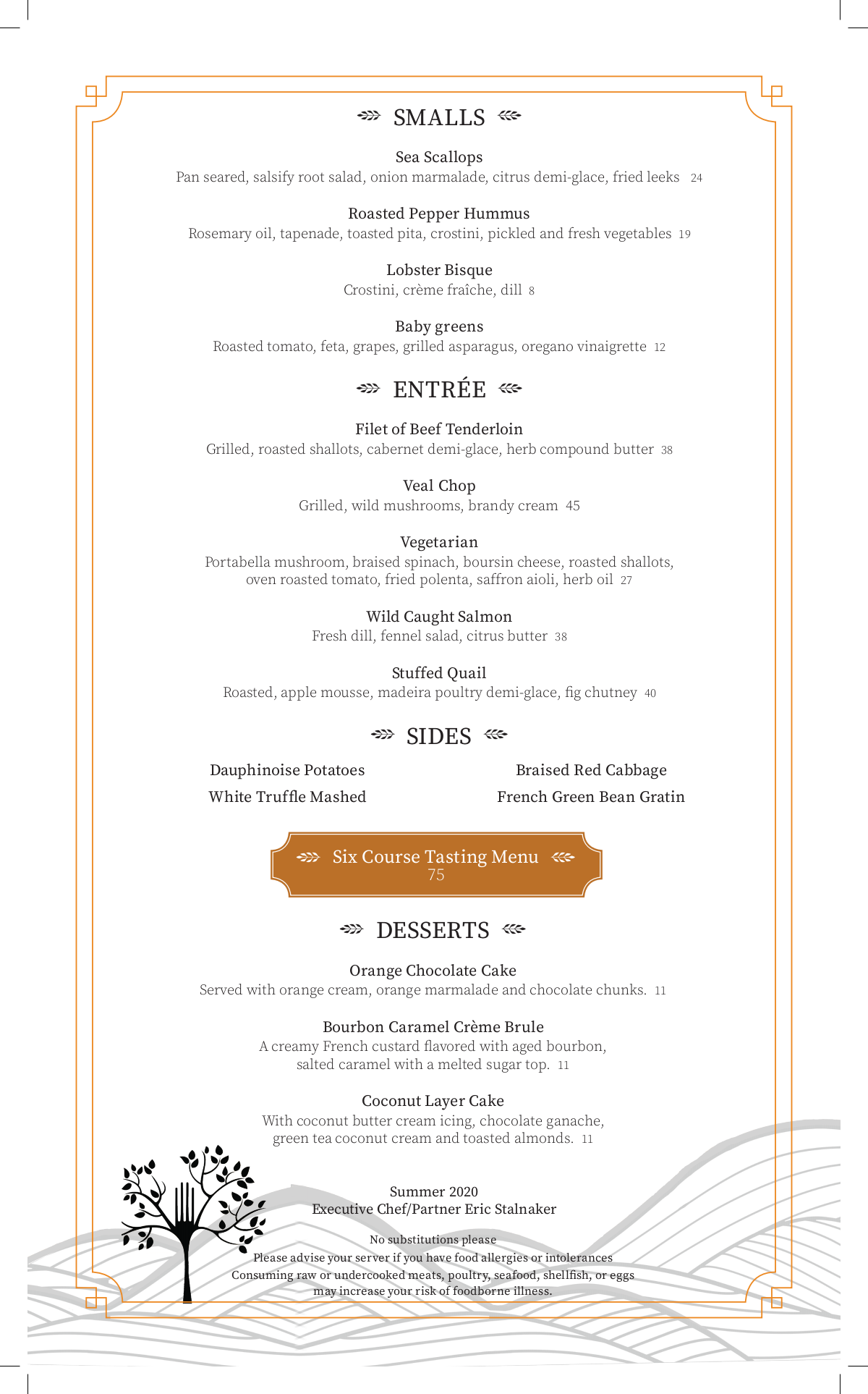 The Forks Menu