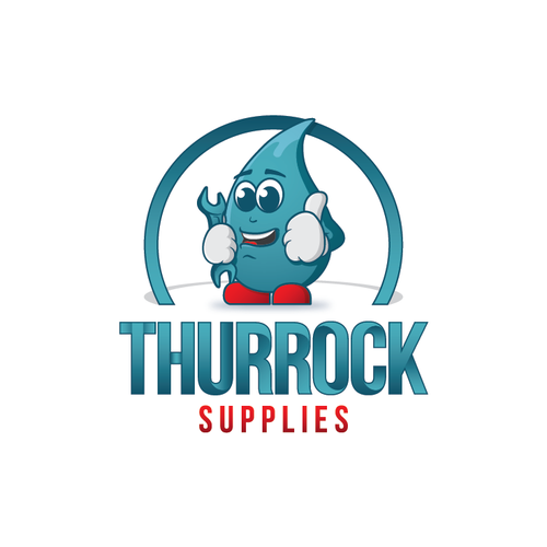 Bathroom company logo/ cartoon character mascot design