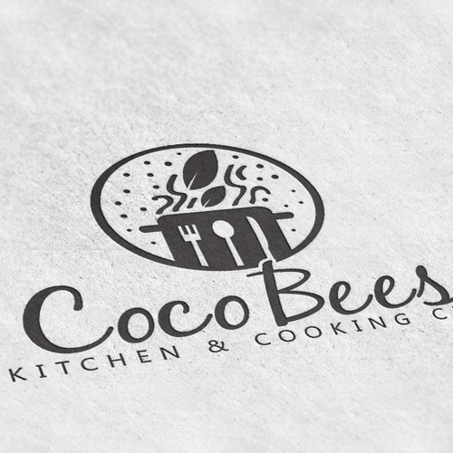 Logo Design for Coco Bees Kitchen & Cooking Club