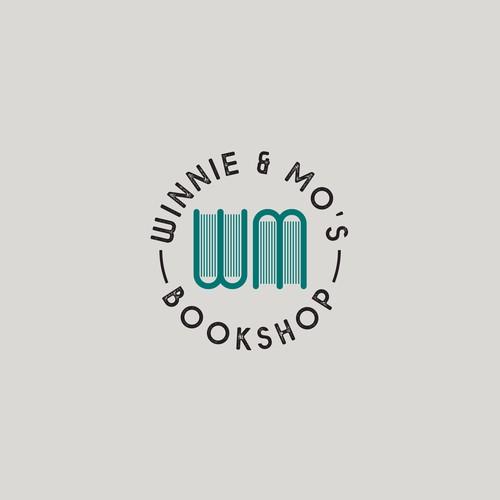 Bookshop logo design