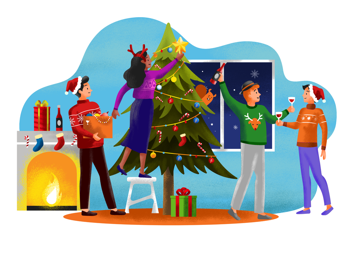 Illustration for Holiday Cards / Website