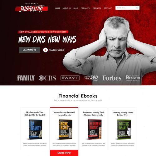Financial Insanity WordPress Theme Design