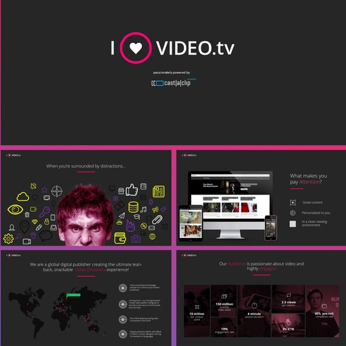 Powerpoint Presentation for Video Advertising  COmpany