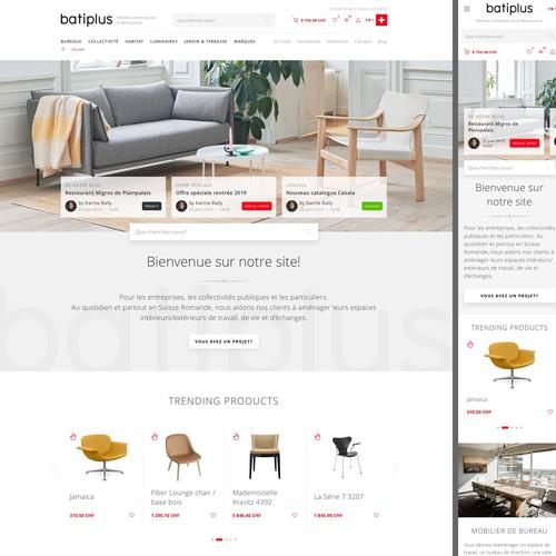 Furniture web shop design