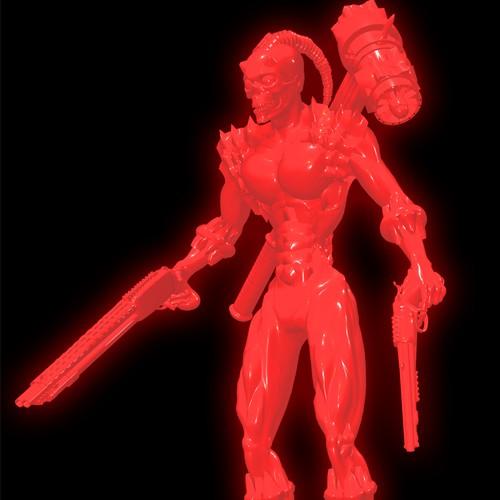 Demon warrior character