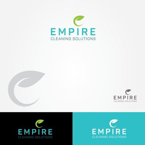 clean and pleasant logo for a cleaning service.