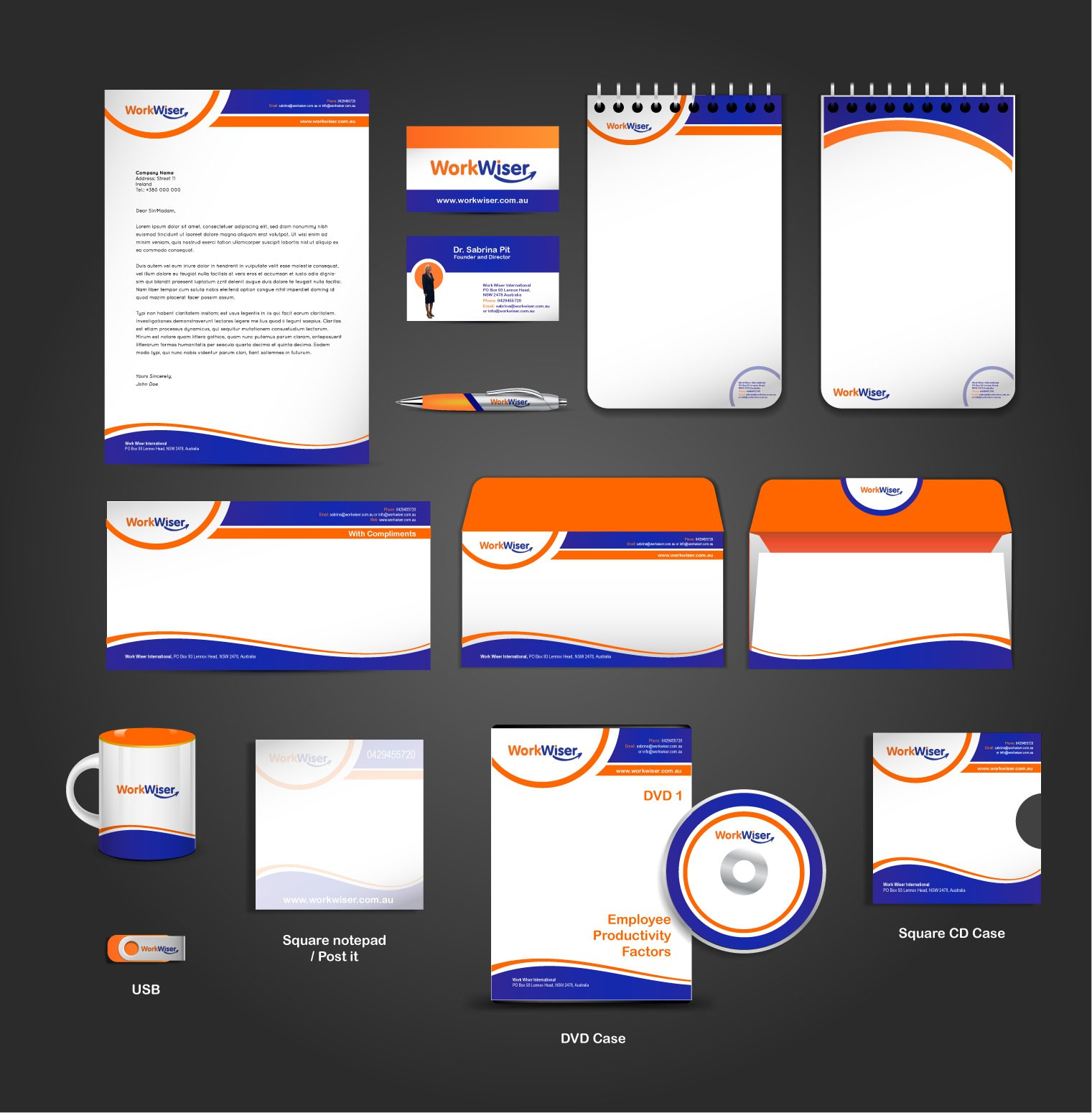 New stationery wanted for Work Wiser International