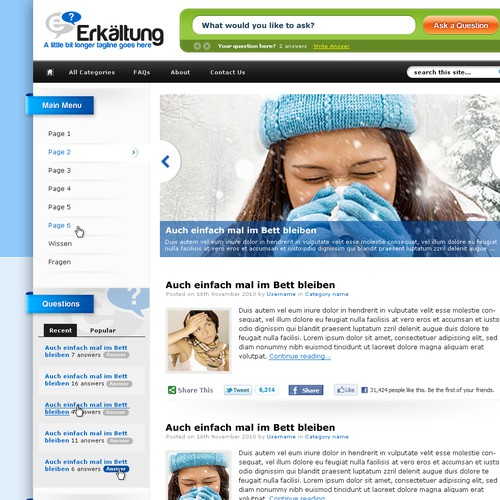Wordpress template for health website needed!