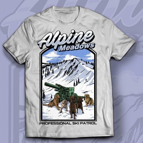 Avalanche Rescue Dog Non-Profit T-shirt Design