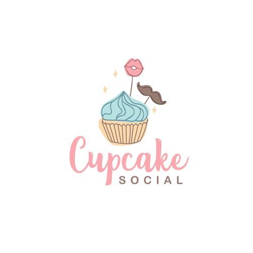"""Cupcake Social"" logo"