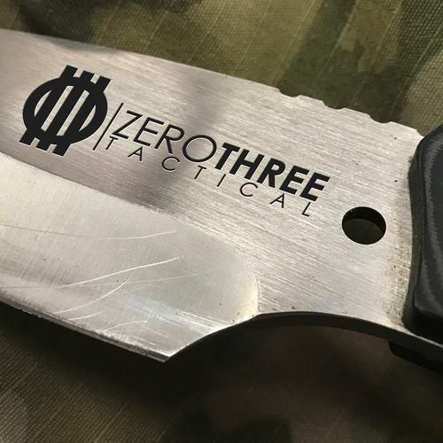 Knife company logo mockup