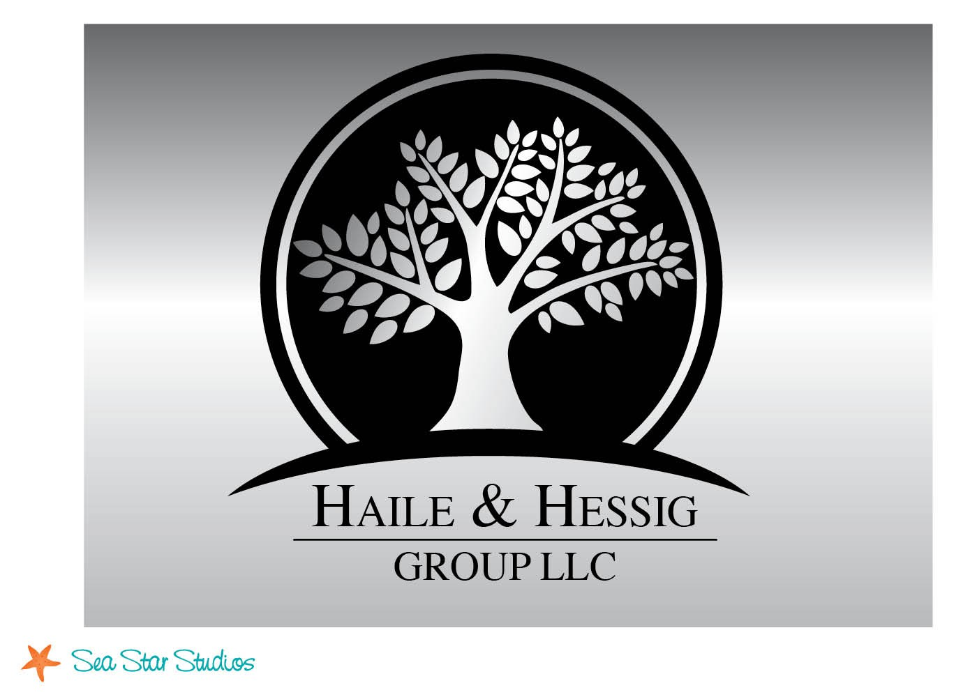 Create a logo for my investor group. Oak tree has to be incorporated with a silver,black platform