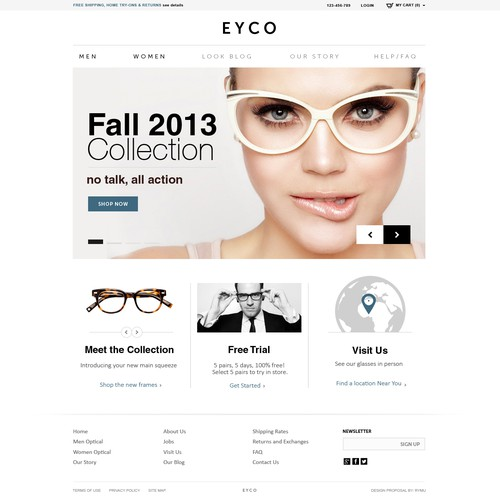 website design for EYCO