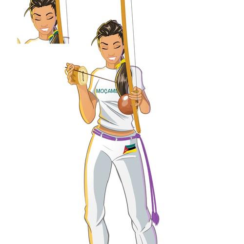 Capoeira Mascot Character