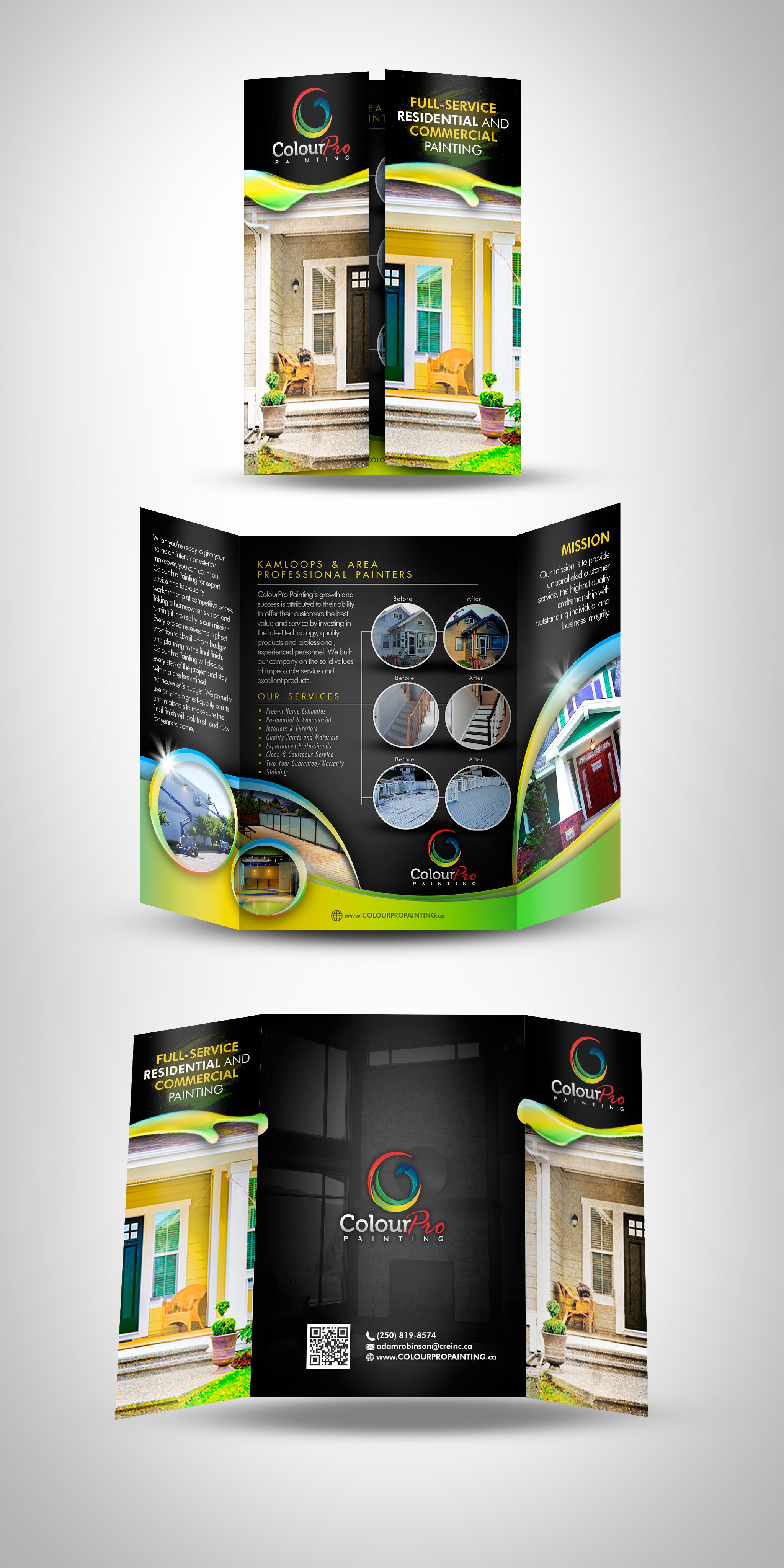 create an eye popping and informative brochure for ColourPro Painting