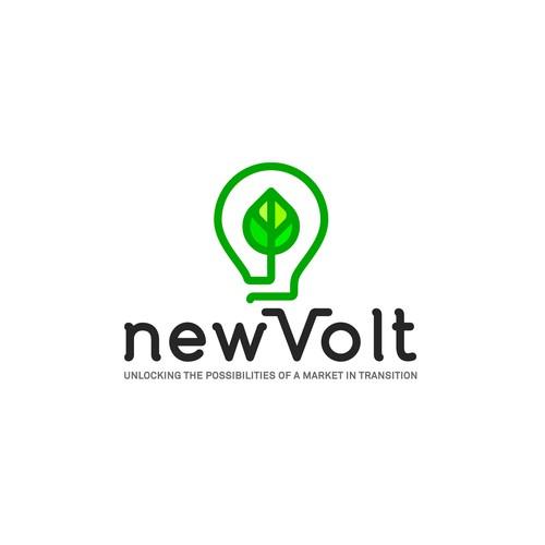 Renewable energy technology logo design