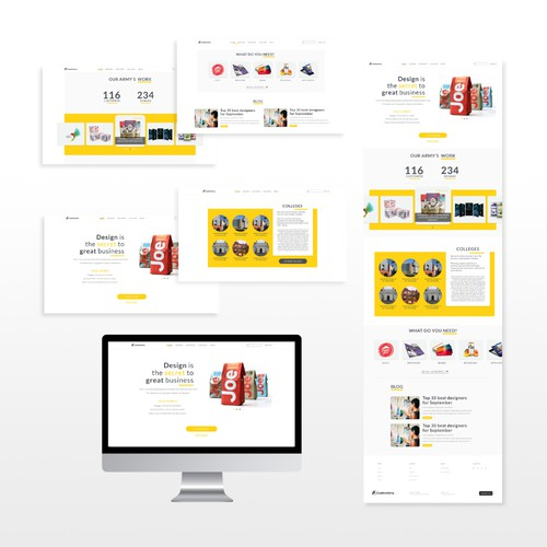Design of a web page