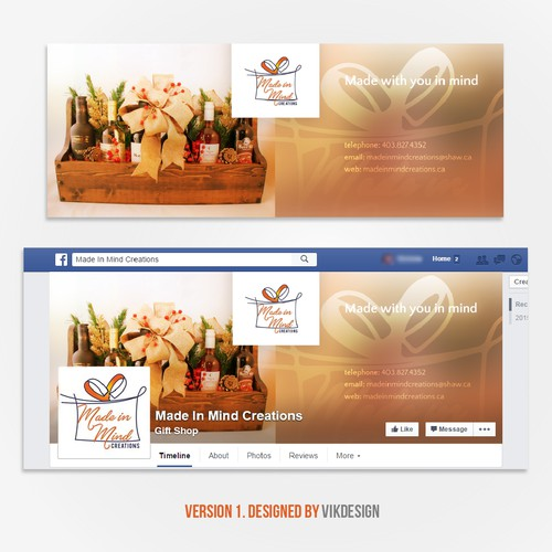 Create a creative clean lookin banner for a start up gift basket company