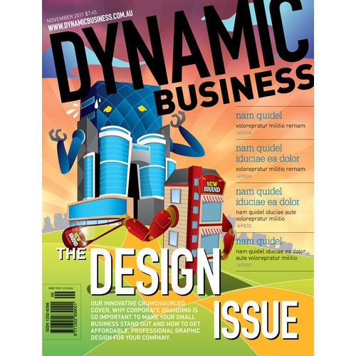 Design the next Dynamic Business Magazine Front Cover!