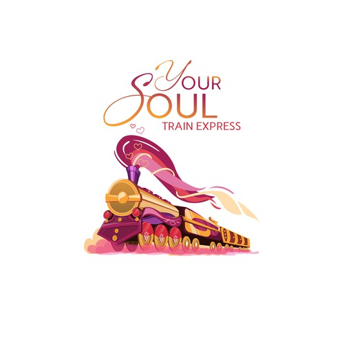 Inspirational and Feminine Logo for Your Soul Train Express