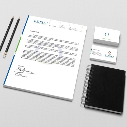 Reperio Human Capital Needs New Business Stationery