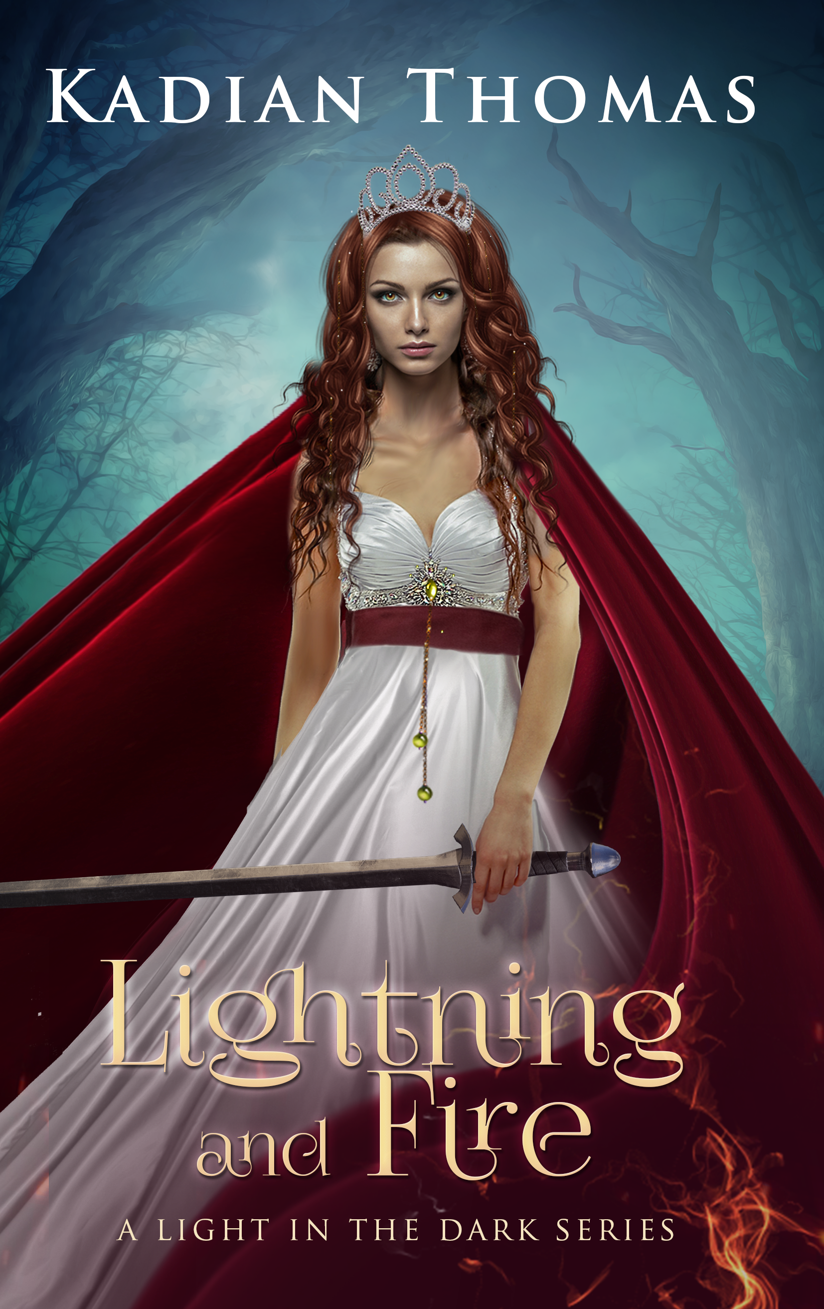 Author Kadian Thomas needs a kickass book cover for her next book Lightning and Fire.