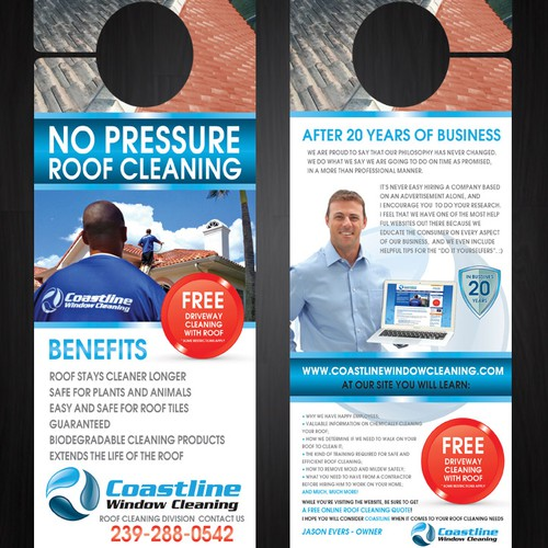 Create the next postcard or flyer for Coastline Window Cleaning