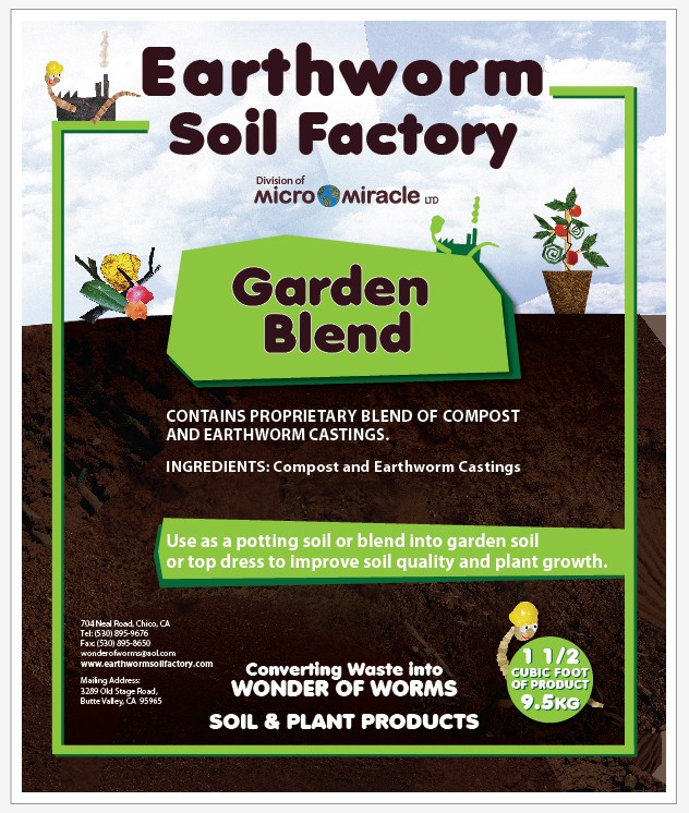Help Earthworm Soil Factory with a new packaging or label design