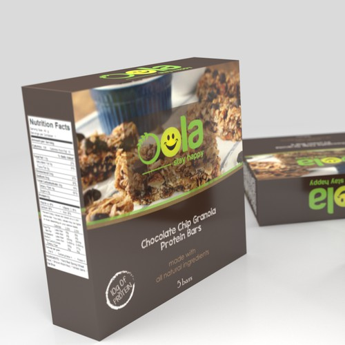 Create a new packaging for a granola protein bar!