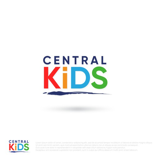 Clean Professional Logo for Central Kids