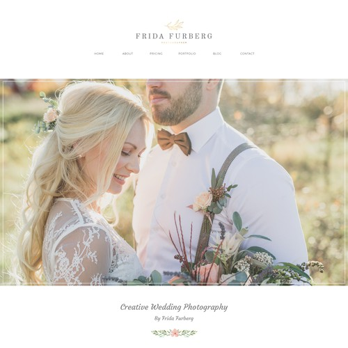 Web design for Wedding Photographer