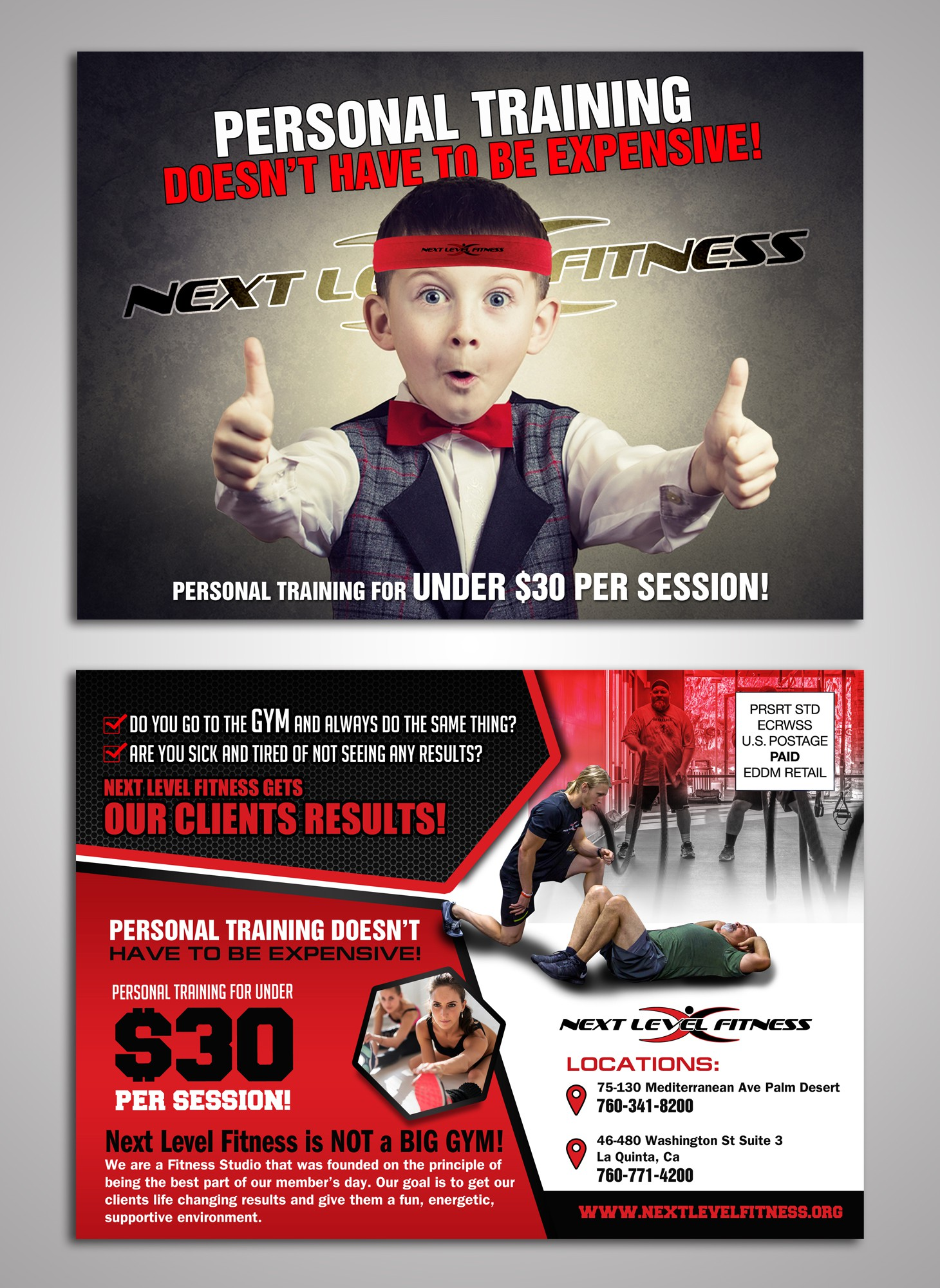 Fitness Postcard - motivate others