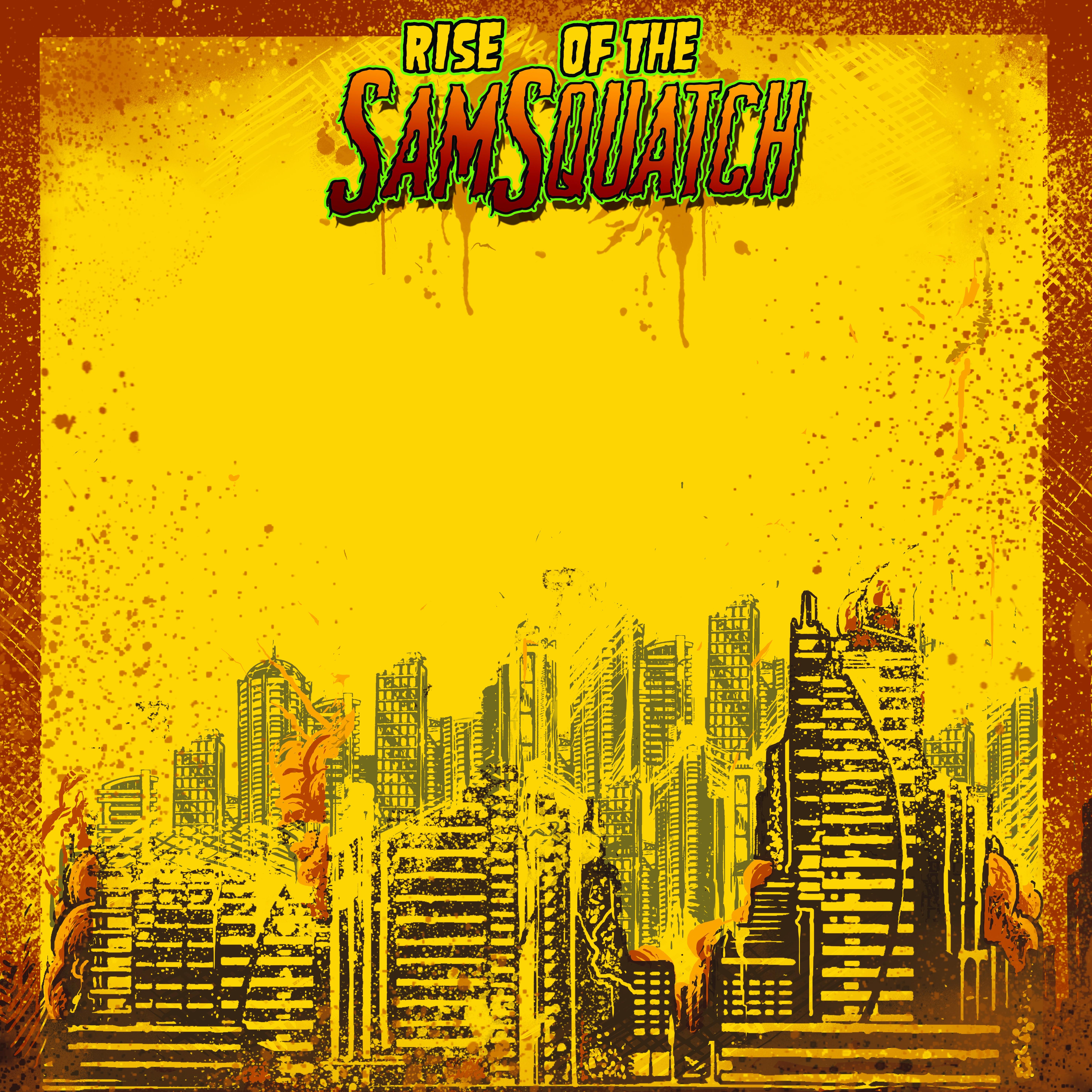 Create a monster movie poster for Samsquatch's next CD album artwork!