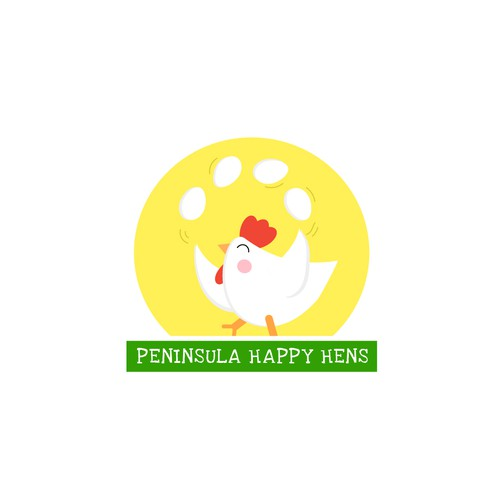 Logo concept for Peninsula Happy Hens