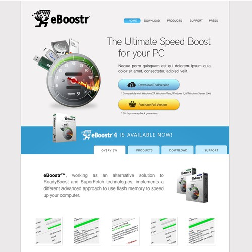 Create the next website design for eBoostr