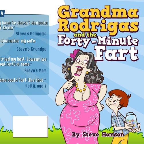 Children's Book Cover: Cartoon Grandma (ages 7-10, series)