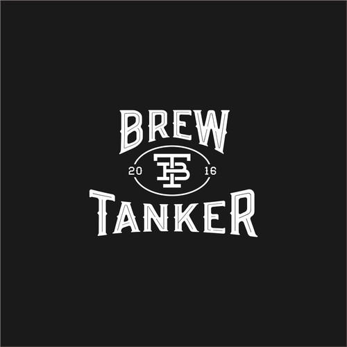 "Create the ""Brew Tanker"" stainless steel growler logo"
