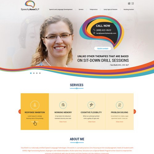 Friendly Speech Therapy website design