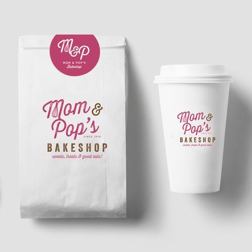 Mom & Pop's Bakeshop Logo