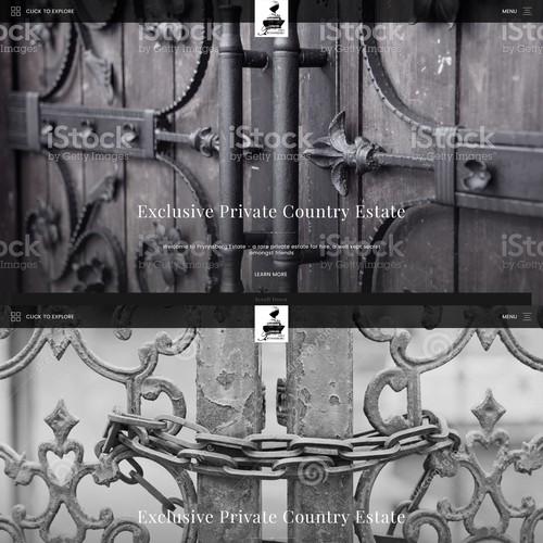Website design for The Prynnsberg Estate