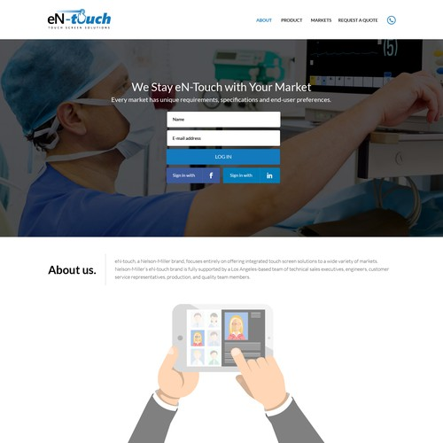 (PLEASE READ NOTES) Design a modern page targeting medical devicemanufacturers