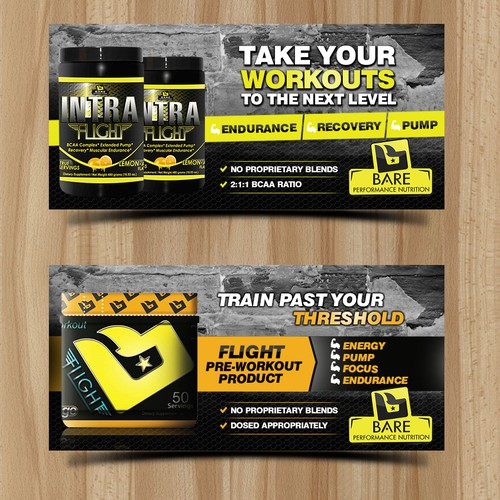 Supplement Company Banner Ads!