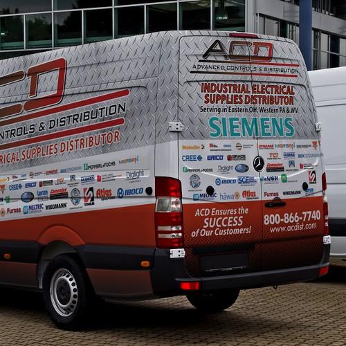 Create a cool looking van wrap for Industrial Distributor.