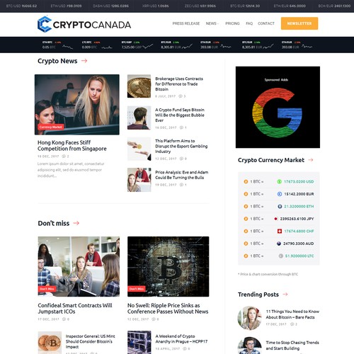 Cryptocurrency News portal
