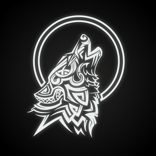 Wolf design for a outdoors brand
