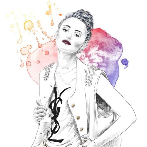Illustration for style blog